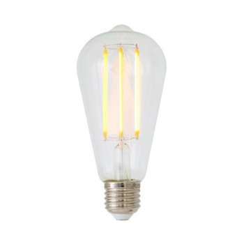 Decorative 4-watt teardrop LED filament lightbulb