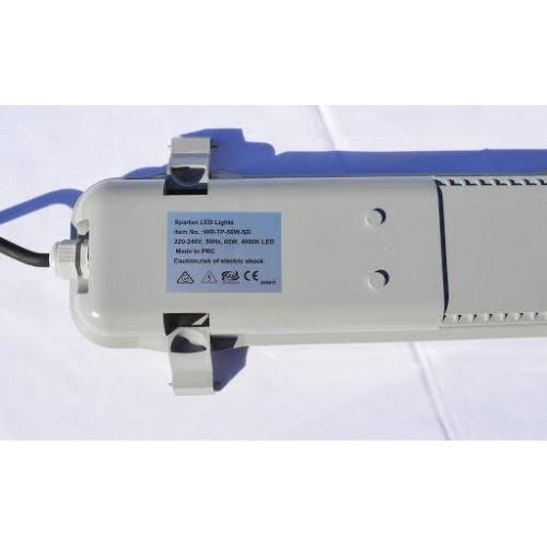 6,000 lumen, 60-watt LED Batten Light w/EMERGENCY backup