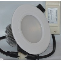 300 lumen, 3 watt LED DOWNLIGHT, satin white (65-95 mm hole cut-out)