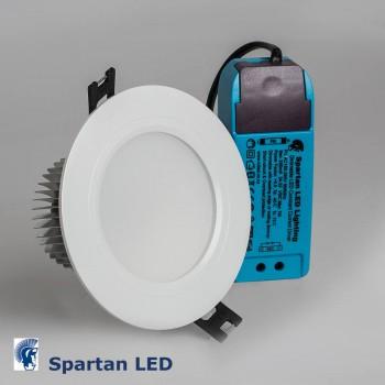 7 watt LED Downlight WHITE, cool white 6000k, (90-110mm cut-out)