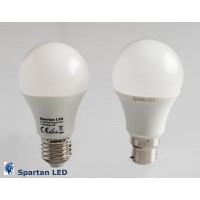 650+ lumen 7.5 watt LED frosted bulb, E27 or B22 fitting