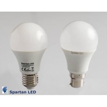 650+ lumen 7.5 watt LED frosted bulb, E27 or B22 fitting