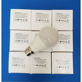 Bulk Package!  10 x 8 watt LED Bulbs, Warm White, Bayonet Fitting