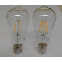 Decorative 7-watt Teardrop LED filament lightbulb, clear glass