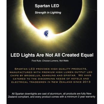 650 lumen, 8-watt LED tilting COB downlight (fits 70-90 mm cut-out)