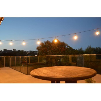 Decorative 7-watt Teardrop LED filament lightbulb, clear glass